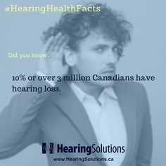 Over 3 million Canadians have hearing loss! #hearinghealthfacts