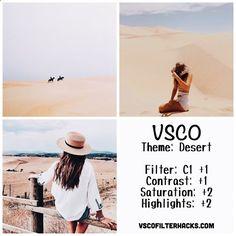 Desert Instagram Feed Using VSCO Filter C1