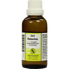 RATANHIA F Komplex Nr.222 Dilution:   Packungsinhalt: 50 ml Dilution PZN: 01013128 Hersteller: NESTMANN Pharma GmbH Preis: 7,19 EUR inkl.…