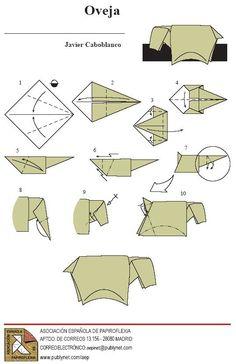 Cómo hacer TODOS los animales con papiroflexia - El Cómo de las Cosas Kids Origami, Origami And Kirigami, Origami Animals, Oragami, Origami Easy, Origami Paper, Xmas Crafts, Diy And Crafts, Paper Crafts