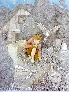 Hansel and Gretel children's book illustration