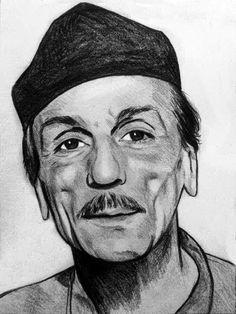 Ritratto Eduardo De Filippo carboncino