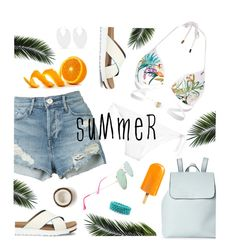 """""""Summer Days"""" by yummymummystyle ❤ liked on Polyvore featuring La Perla, Street Level, River Island, 3x1, Isabel Marant, UGG, Betsey Johnson, swimsuit, beachstyle and DENIMCUTOFFS"""