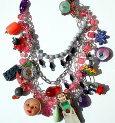 fun colorful cartoon necklace from ideafarmdesignsjewelry