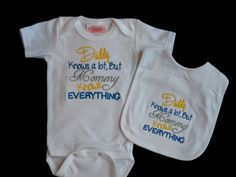 Yes!!! Baby Boy Clothes Funny Onesie Embroidered with Chicks by LilMamas