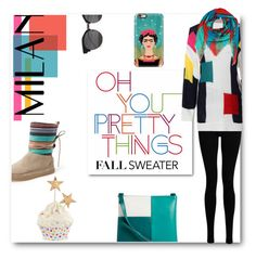 """Fall Sweater"" by deeppurplesea on Polyvore featuring Goldsign, Vera Bradley, Casetify, TOMS and Ginger Ray"