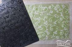 Wax Paper Embossing Technique  Sparkle N Sprinkle: General Techniques