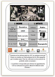 Guernica, French Teacher, Teaching French, Art School, School Stuff, French Resources, Gandalf, Bons Plans, Art Activities