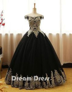 Black lace long prom dresses, black evening dresses,PD270009  #promdresses #shopping #fashion #dresses #evening