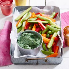 A healthier WW recipe for Spinach and dill dip ready in just min. Get the SmartPoints plus browse our other delicious recipes today! Dill Dip Recipes, Ww Recipes, Healthy Recipes, Delicious Recipes, Spinach Dip, Weight Watchers Nz, Recipe Today, Vegan Gluten Free
