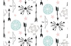 Arrows and Stars Pattern: available as t shirt, hoodie, graphic tee, stickers,  phone cases, prints, cards, posters, home décor, pillows, totes, laptop skins, duvets, coffee mugs, travel mugs, leggings, pencil skirts, scarves, tablet cases, bags, notebooks, journals, canvases, metal prints, drawstring bags, phone wallets, contrast tanks, Chiffon tops, graphic t shirt dress, a-line dress, wall tapestry, clocks, acrylic block, slaps