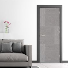 Seis Pearl Grey Flush Door - Prefinished is ready for fitting, finish this with a pair of stunning handles to make it really stand out in a room.    #interiordesign #doors