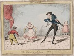 From 1830′s George Cruikshank series entitled Dancing Lessons