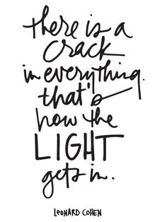 There is a crack in everything thats how the light gets in - Ali Edwards   Blog: Give Sunday   05