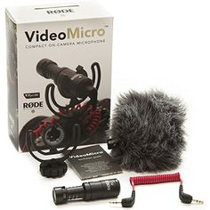 Rode VideoMicro Compact On-Camera Microphone with Rycote Lyre Shock Mount  http://www.lookatcamera.com/rode-videomicro-compact-on-camera-microphone-with-rycote-lyre-shock-mount/