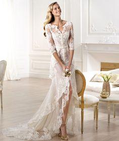 Pronovias presents the Yaela wedding dress. Atelier Pronovias 2014.   Pronovias