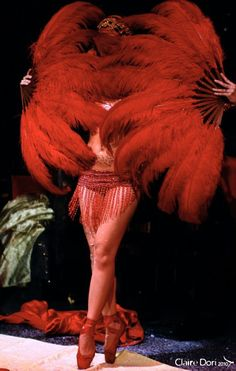 Fan Dancer - ballet - red - feathers    True expressions n danceing how well do i know. J C M
