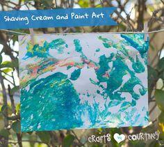 Make Fun Kids Paint and Shaving Cream Art