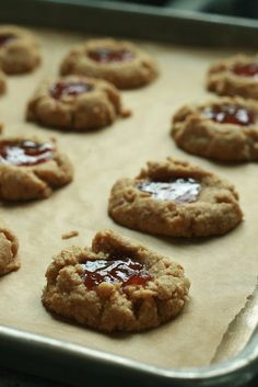 Healthy Peanut Butter and Jelly Cookies and more of the best health peanut butter cookies recipes on MyNaturalFamily.com #peanutbutter #recipe