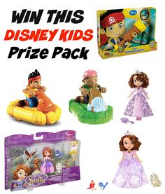 Win this 6-piece Disney toys prize pack as part of Wonder and Company's Ultimate Disney Kids Gift Guide and giveaway (including Sofia the First and Jake and the NeverLand Pirates!)