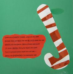 J is for Jesus - candy cane craft for Cubbies... LOVE the poem that goes with this!