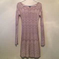 Express Dress Gold, shimmery sweater dress. Size small. NWOT Express Dresses Long Sleeve