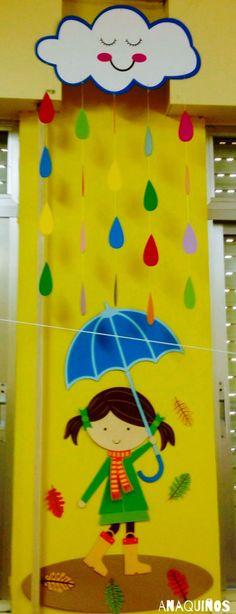 Risultati immagini per ideias para decorar sala creche Decoration Creche, Board Decoration, Class Decoration, School Decorations, Kids Crafts, Preschool Crafts, Diy And Crafts, Arts And Crafts, Paper Crafts