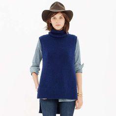 Sleeveless Layering Turtleneck Sweater