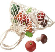 HABA Wooden Vegetables Set, Net Shopping Bag
