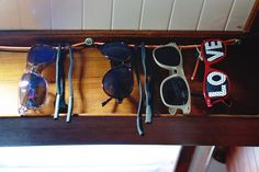 Keep sunglasses out of harm's way by hanging them on a string.