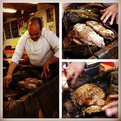 Glorious Sunday n DF: bfast at El Hidalguense: succulent lamb barbacoa, panza brought ea morn from Tulancingo, Hgo