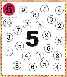 Preschool Learning Activities, Kindergarten Worksheets, Math Classroom, Preschool Activities, Printable Alphabet Letters, Numbers Preschool, Math Work, Math For Kids, Math Lessons