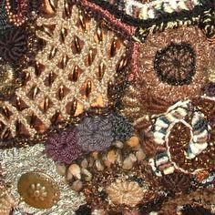 Chocolate Brown Throw Pillow Cushion Cover OOAK Freeform Crochet home decor. $199.00, via Etsy.