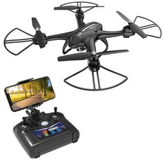 Altitude Hold Headless Mode Foldable FPV Drones WiFi Live Video 3D Flips 6axis RTF Easy Fly Steady for Learning White A9 Drone Optical Flow Positioning RC Quadcopter with 1080P HD Camera