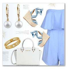 Soft Look by jomashop on Polyvore featuring polyvore fashion style Ralph Lauren clothing gold white Blue