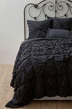 10 Chanel-inspired Home Decor Ideas: Anthropologie Rosette Quilt Set.