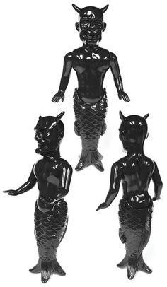 "Awesome Toy's sofubi ""Ningyo (Mermaid)"" black edition released!"