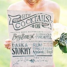 Ever thought of having a cocktail wedding reception? Here are a few reasons you should! (image via Wedding Bee)