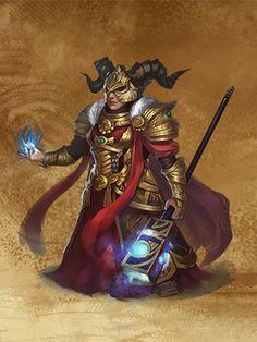 HoMM 7 - Female Dwarf Runelord