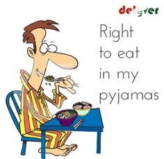 With Delyver, you can eat in your pyjamas - Independence Day Week!