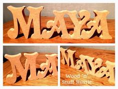MDF Name (victorian font) - Any name available to order. First letter capital is 10cm tall remaining 9cm tall up to 7 letters.