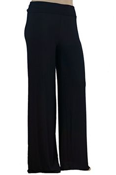 99a58da2ce205 Stylzoo Women's Premium Modal Softest Ever Palazzo Solid Stretch Pants  Black Regular 1X at Amazon Women's Clothing store: