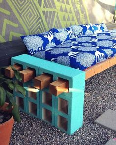 Don't want to spend a lot of money on a sofa for your patio or garden? Consider making your own, using the photo above as a guide. You'll need some cement blocks, cement paint, wood beams, a long cushion for seating and several smaller ones for back support. First, determine how long, high and deep you want your garden sofa to be. Take those measurements to your local garden center and locate some cement blocks with openings large enough to comfortably fit a four-by-four beams. If your sofa…