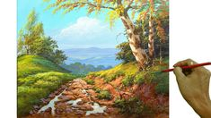 Acrylic Landscape Painting in Time-lapse / After the Rain / JMLisondra Acrylic Painting Lessons, Painting & Drawing, Learn To Paint, Beautiful Landscapes, Les Oeuvres, Landscape Paintings, Paint Colors, Rain, Canvas