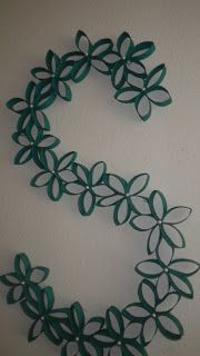 Monogram made from Toilet paper rolls, tutorial, from  Being thrifty is nifty!