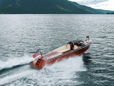 Hacker-Craft Sport boats areideal for a family, ranging from 25 to 33 feet and offer more freeboard for comfort and sea-going qualities.