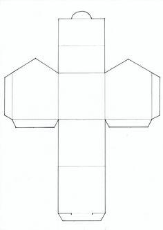 Gabarit pour une bo te rectangulaire de 5 x 5 x 8 cm imprimer sur une feuille cartonn e de 21 - Patron maison en carton ...