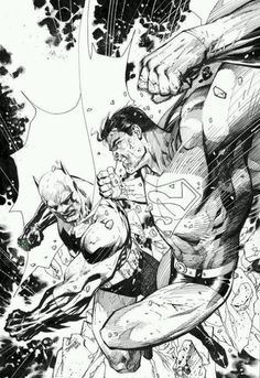 Superman vs Batman by Jim Lee