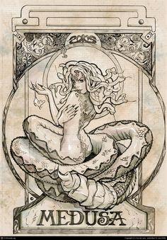 Medusa Pencil by Cris Delara | 2D | CGSociety