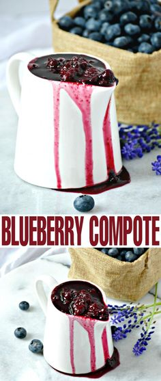This Blueberry Compote recipe is perfect served over pancakes, ice cream, yoghurt, pound cake, cheesecake. The options are as endless as they are delicious! Easy Blueberry Cheesecake Recipe, Blueberry Recipes, Fruit Recipes, Sweet Recipes, Dessert Recipes, Cooking Recipes, Recipies, Just Desserts, Delicious Desserts